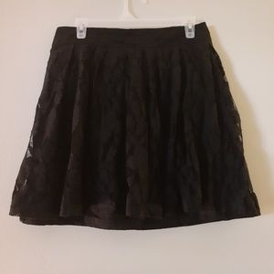 Black lace Loft skirt